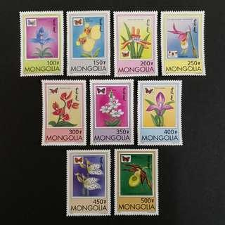 Mongolia 1997. Orchids complete mint stamp set