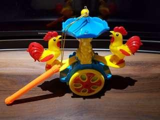Battery operated Rooster lantern with light and music!