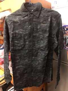 Uniqlo flannel shirt 迷彩法蘭絨恤衫
