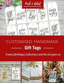 Customised Calligraphy Gift Tags
