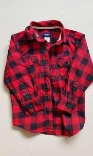 Carter's plaid shirt