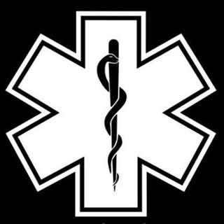 Star of Life Snake EMT Ambulance Sticker / Car Decal