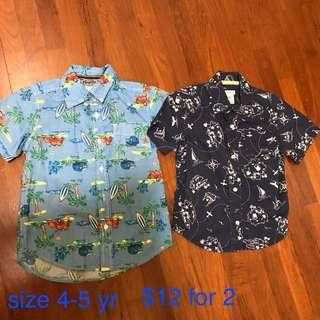 Boys Shirts Size 5-6 yr