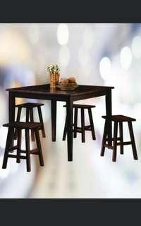 Dining Set + 4 stool INSTOCK!