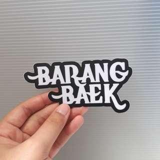BARANG BAEK vinyl sticker