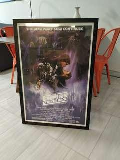 🚚 Star wars episode 5: poster + frame