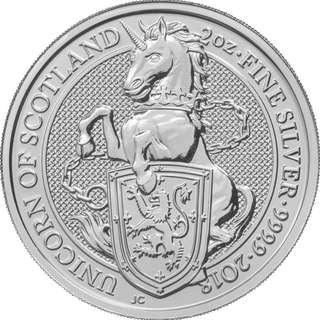 英女皇神獸系列-蘇格蘭獨角獸  .9999銀幣2oz