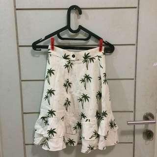 White Palm Skirt
