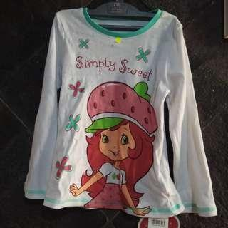 Mothercare Strawberry shortcake shirt 5-6 tahun