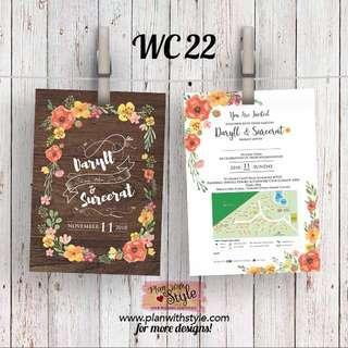 Wedding Card WC22