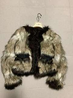Lanvin H&M fur jacket 毛毛外套 (不是羽絨,絨褸)