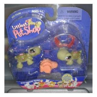 絕版 2004年 Hasbro LPS Littlest Pet Shop Pet Pairs Tortoise Turtle烏龜仔 1款