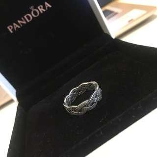Pandora Silver Ring with Crystals