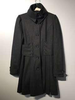 Anthropologie Hazel Wool Blend Pea Coat Small