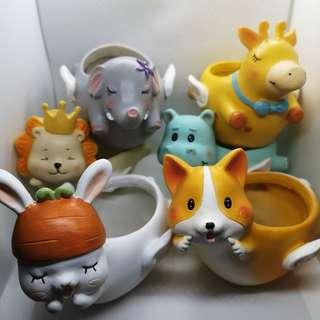 INSTOCK Fairy Animal Flower Pots