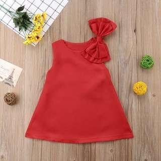 Classic Red Bow Dress