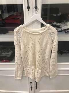 promod white sweater wool knitwear