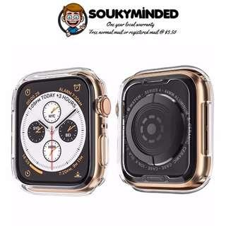 [IN-STOCK] Apple Watch Series 4 Case for 40mm & 44mm, Soft TPU Protective Cover Bumper Case Apple Watch Series 4, Clear