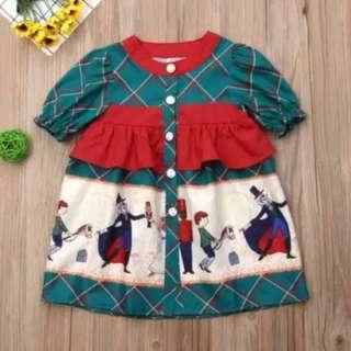 🎄Christmas PO🎄 Green Plaid Nutcrackers Dress