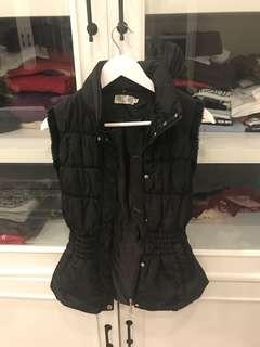 usa brand black bubble vest outer for winter