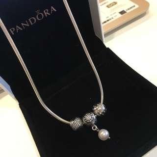 Pandora Moments Silver Neckalce