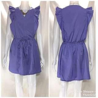 👗 Pretty purple dress in silk like fabric