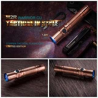 (Limited Edition_Free Delivery) Olight M2R Warrior Cooper Version Tactical Flashlight