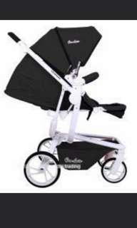 Jual stroller merk quintas warna hitam preloved