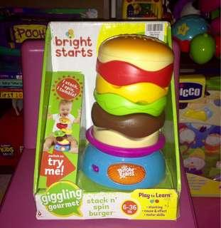 Bright Starts Stack and Spin Burger 🍔