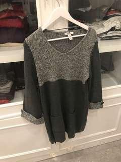 USA brand wool grey long sweater (bisa jadi dress juga) bisa untuk winter