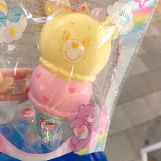 care bears Yellow ice cream squishy mascot