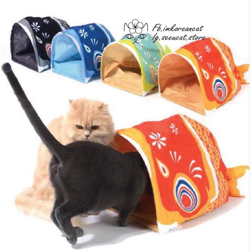 🎏貓咪沙沙魚響紙窩🐈4色可選