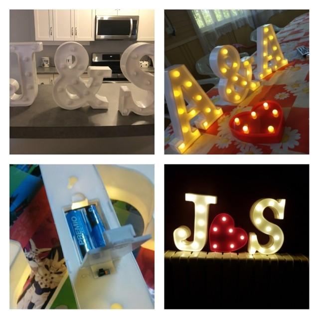 🆕🆒 DIY Letter Symbol Sign Heart Lighting Plastic LED Lights Wedding Valentine's Day Decoration Marriage Party Engagement Decoration ♥️ $16.90 each Alphabet
