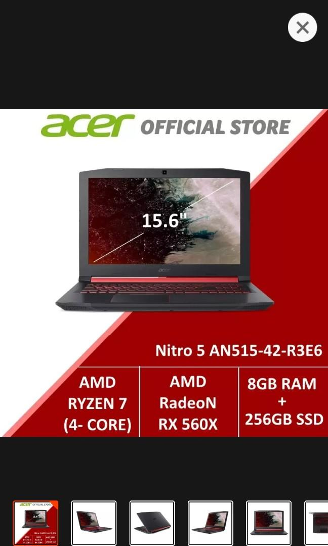 NEW! Acer Laptop Nitro 5 !GREAT SPECS! AN515 42 R3E6 Gaming