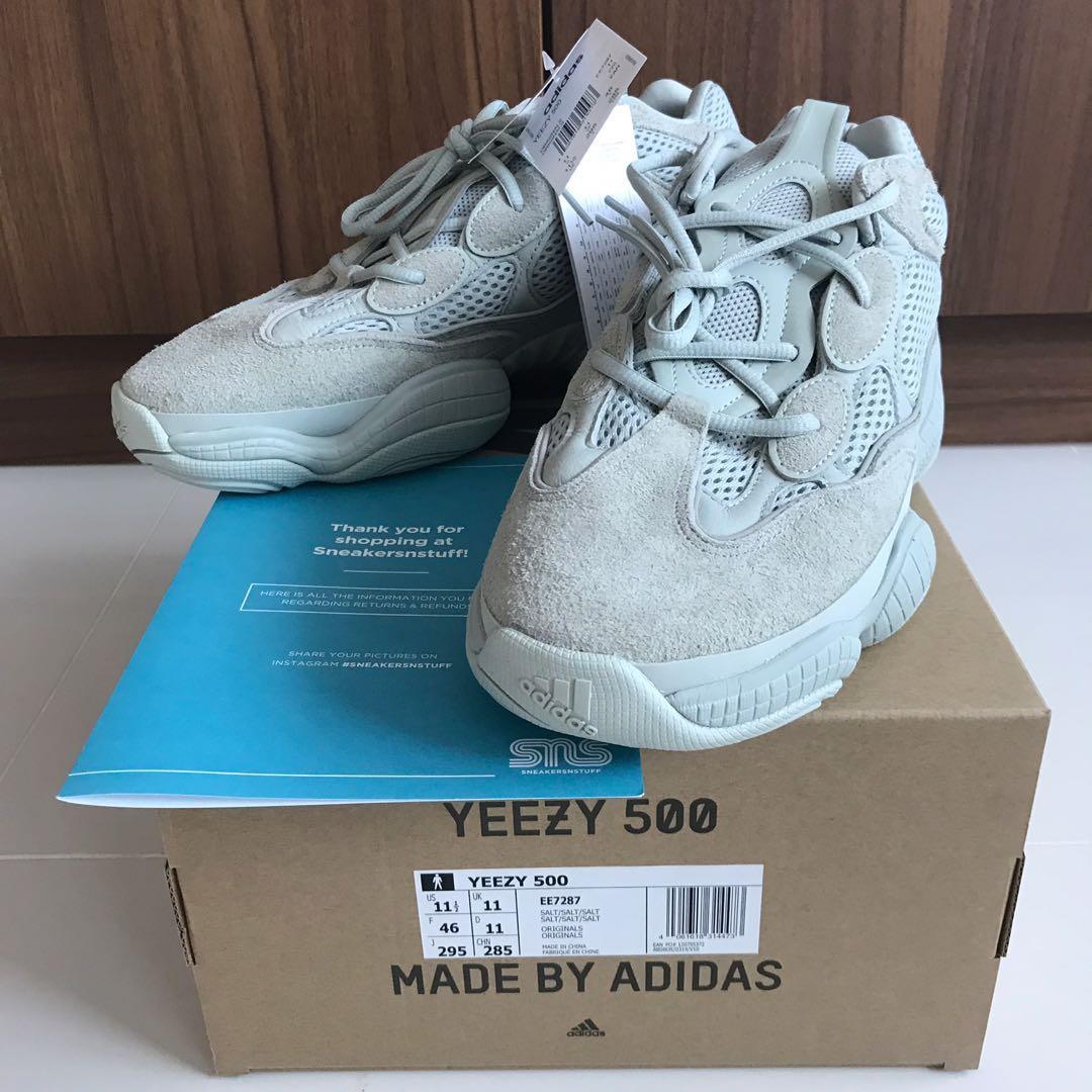 3b3dcfd726f73 Adidas Yeezy 500 Salt US11.5