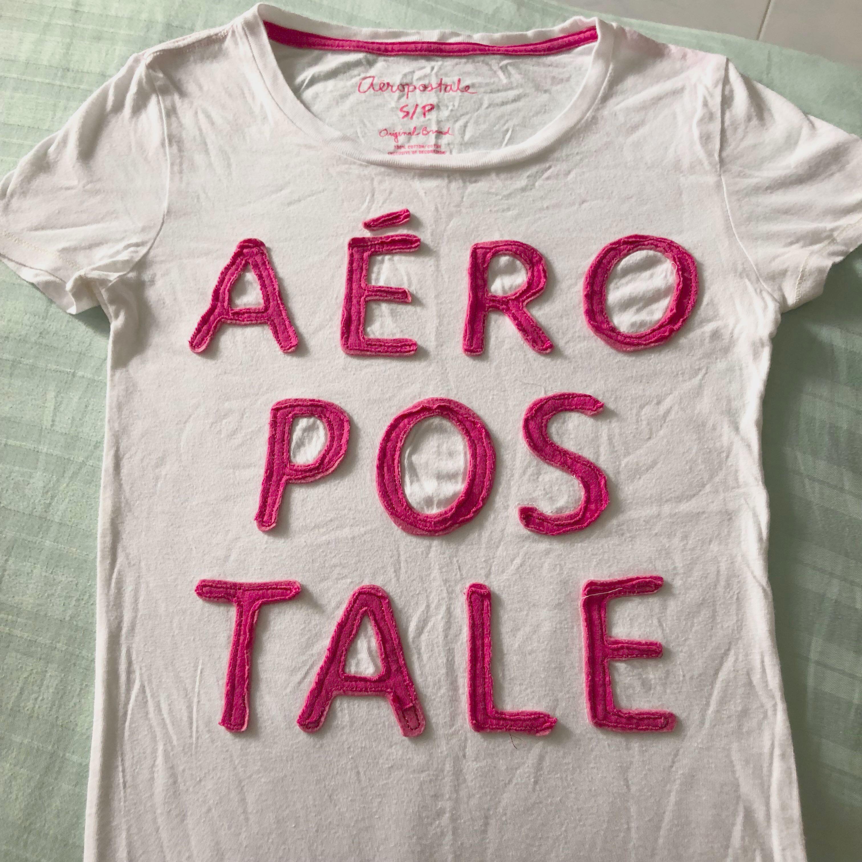 9e52fd32 Aeropostale Basic White T Shirt, Women's Fashion, Clothes, Tops on ...