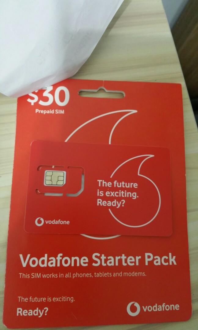 Australia Vodafone Prepaid Sim, Travel, Travel Essentials