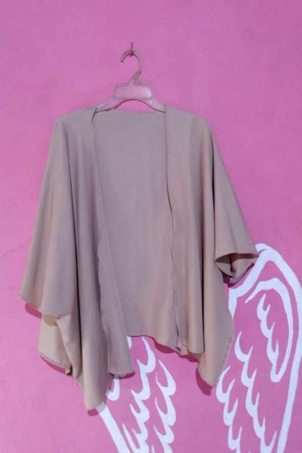 Batwing outerwear nude / Cardigan / Outer