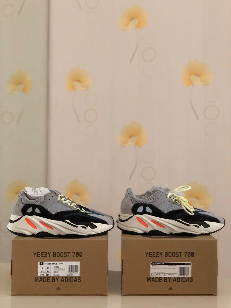 aaa80103780 BNIB Adidas Yeezy Wave Runner 700 Solid Grey OG Us10   US9