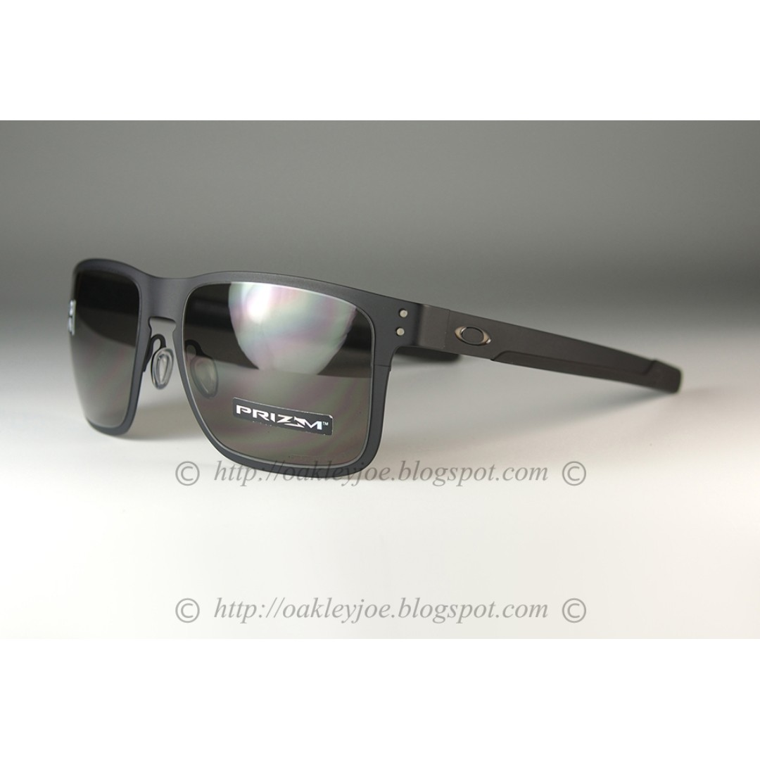a1f98c2935a BNIB Oakley Holbrook Metal matte black + prizm grey OO4123-1155 sunglass  shades, Men's Fashion, Accessories, Eyewear & Sunglasses on Carousell