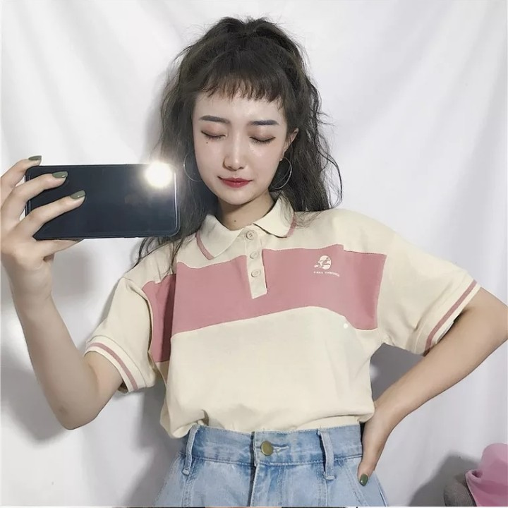 beeee6629c885 INSTOCKS ulzzang vintage polo shirt crop top tee t basic essential ...