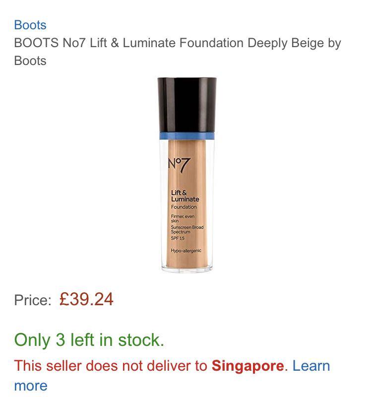 4b29111daf7 Boots Foundation 97% left Deeply Beige, Health & Beauty, Makeup on ...