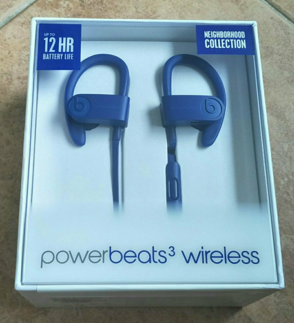 01db9718106 Brand New Sealed Powerbeats 3 Neighbourhood Collection Break Blue ...