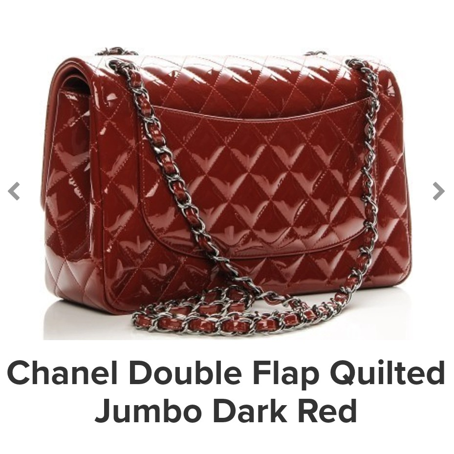 572ac29efabe Chanel Double flap Quilted Jumbo dark red with 24k gold chain (comes with  dust bag), Luxury, Bags & Wallets, Handbags on Carousell