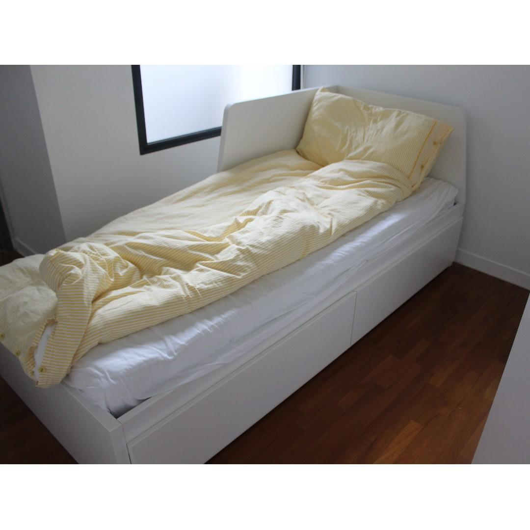 Day Bed Ikea Flekke And Foam Mattress Ikea Malvik Furniture Beds Mattresses On Carousell