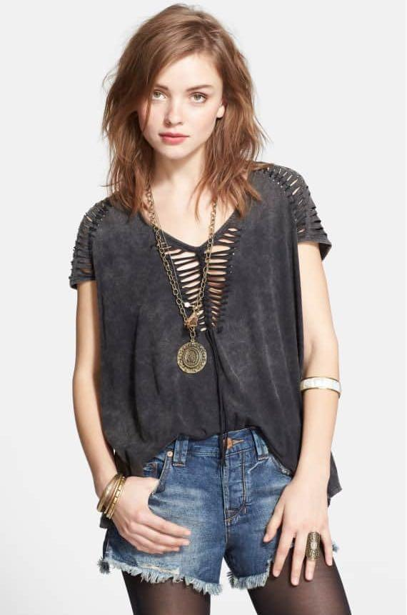 Free People (we the free) too cool for school tee