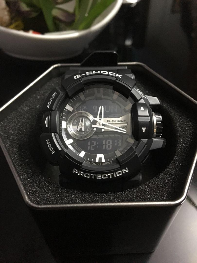on sale b2cf8 4b023 G-shock 5398 Black GA-400GB, Luxury, Watches on Carousell