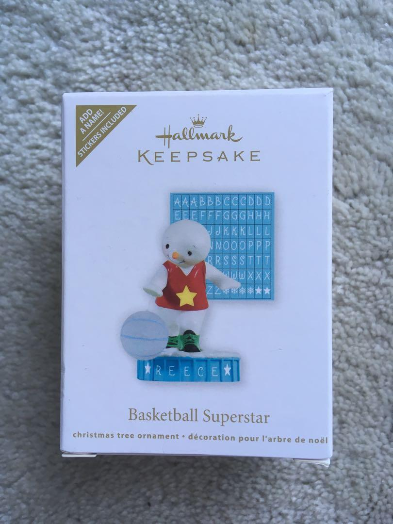 Hallmark Customizable Basketball Ornament