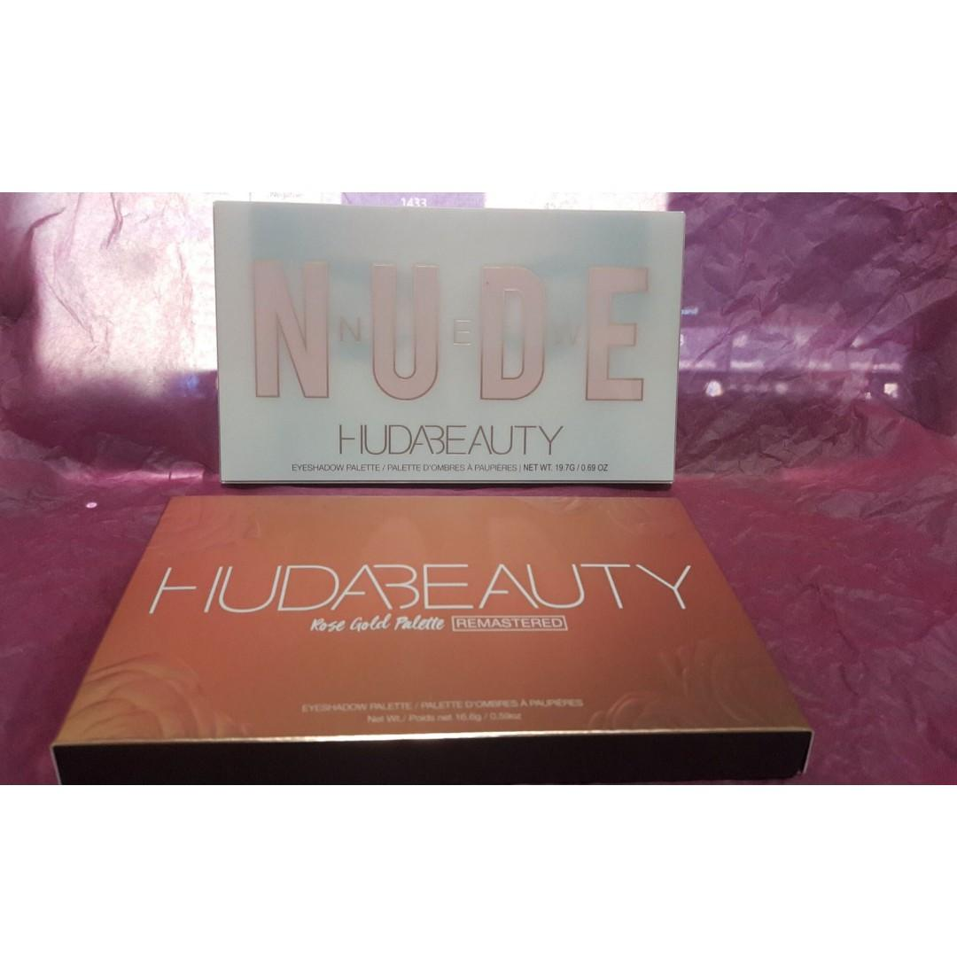 Huda Beauty Rose Gold Remastered Palette + HUDA BEAUTY Nude Palette BRAND NEW & AUTHENTIC [PRICE IS FIRM, NO SWAPS] FREE SHIPPING AUSTRALIA WIDE
