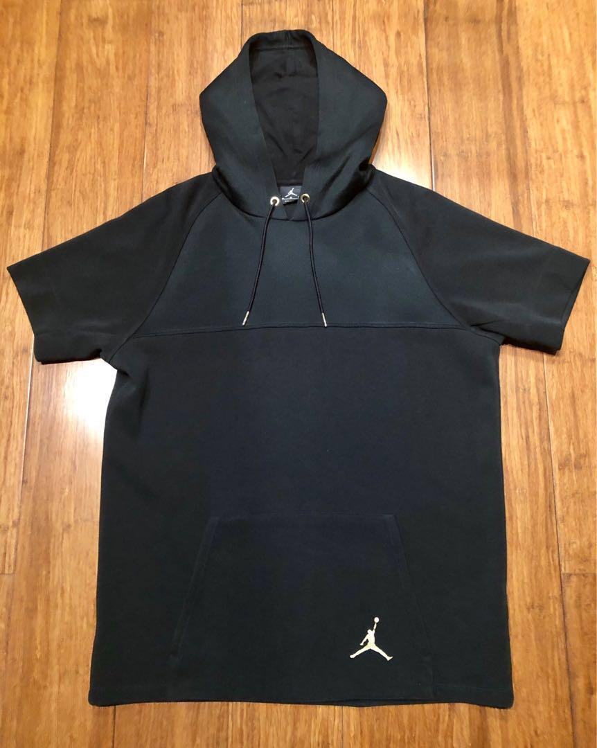 69b34043cf93 Jordan Short sleeve pullover hoodie (Black)